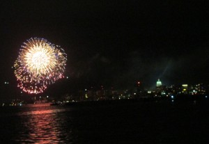 July 4 fireworks on Lake Monona