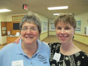 Linda and Susan at volunteer recognition event