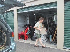 Putting our worldly goods in storage