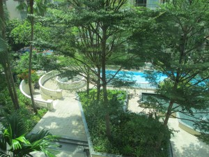 Pool from room window